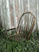 Old chair in the grass