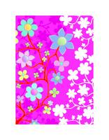 Bling Florals 9 (pink, blue, white flowers)