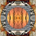 """Bush mandala - sunset"" by belinda"