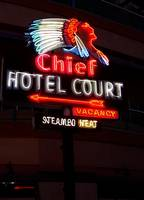 Chief Hotel Court Sign Old Las Vegas