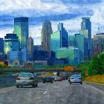 """35W Skyline of Minneapolis"" by tommyrey"