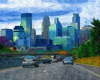 35W Skyline of Minneapolis