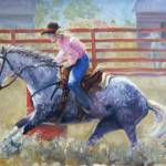 """Rodeo Series: Barrel Racer"" by TerryStanley"