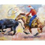 """Rodeo Series- Calf Roping"" by TerryStanley"