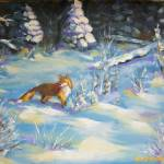 """Fox In the Snow - Denali National Park"" by TerryStanley"
