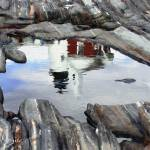 """pemaquid-reflections-16x20"" by sacorivergraphics"