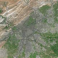Damascus (Syria) : Satellite Image