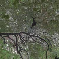 Hamburg (Germany) : Satellite Image