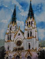St John the Baptist Church christian art print