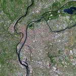 """Lyon (France) : Satellite Image"" by astriumgeo"