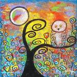 """""""Owl and Flowers"""" by juliryan"""