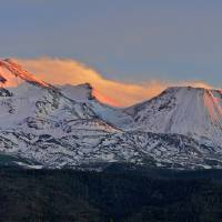 Mount Shasta, Dusk, California, USA Art Prints & Posters by Richard Sisk