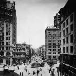 """Market & Kearny north to 3rd San Francisco c1905"" by worldwidearchive"