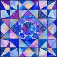 Blue Watercolor Quilt