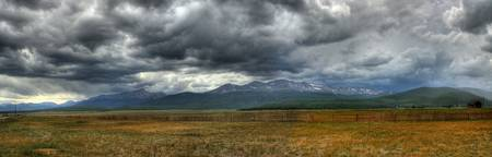 Cloudy Mountain Panorama