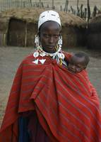 Tanzania 2004 Maasai Mother with Baby gloriousjour