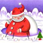"""Christmas images - Present of big Father Christmas"" by t-koni"