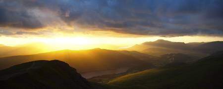 Sunset from Helvellyn