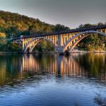 """Caught God painting the Taneycomo bridge with ligh"" by lollie"