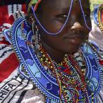 """Kenya 2004 Maasai Girl Adorned gloriousjourneyphot"" by gloria_garrett"