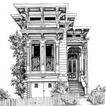 """San Francisco Victorian2"" by marypalmer"