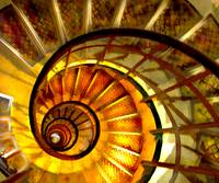 Abstract Nautilus Spiral Staircase