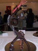 Chocolate art at Croisic