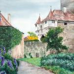 """Rothenburg Castle Garden"" by randomlyvague"