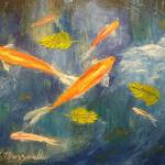 """Koi Pond Painting"" by mazz"