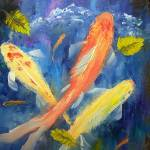 """Koi Fish Swimming in Pond"" by mazz"