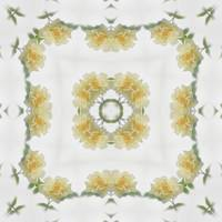 Creamy Yellow Rose Kaleidoscope Art 3