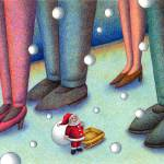 """Christmas art - Where are you? Father Christmas."" by t-koni"