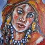 """""""Blue Eyed Gypsy Woman"""" by Reynaldo"""