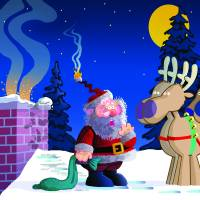 Hot Santa Art Prints & Posters by Rick Kersten
