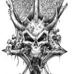 """Chaos Skull"" by Daniel_Bollans"