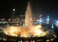 Jinan Quancheng ---Piazza Night Scenery