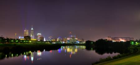 Indianapolis Skyline from White River