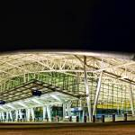 """Indianapolis International Airport at Night"" by cavanroo"