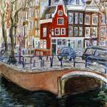 """Red House in Amsterdam"" by californiadreaming"