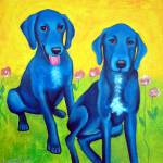 """bluedogs"" by CarolNesbitt"