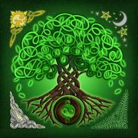 """Circle Celtic Tree of Life"" by foxvox"