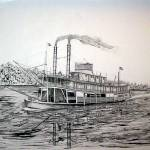 """Riverboat HELEN BLAIR"" by RichardHall"