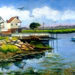 """TWO HOUSES AT BROAD CHANNEL"" by madelinesstudio"