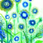 """Blue Flowers Sparkle With Joy to See You"" by ArtSamadhi"
