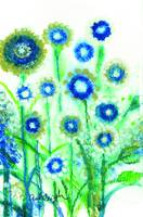 Blue Flowers Sparkle With Joy to See You