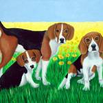 """beagle family"" by CarolNesbitt"