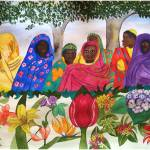 """Women of Sudan by Flowers"" by Christella"