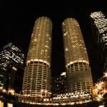 """Marina City, night"" by fjsjr"