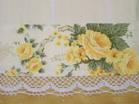 Vintage Golden Roses- decorative tea towel