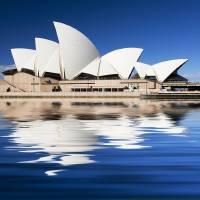 """Sydney Opera House reflection abstract"" by Sheila Smart"